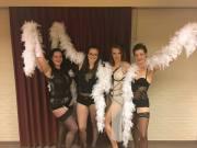posing fun burlesque backstage